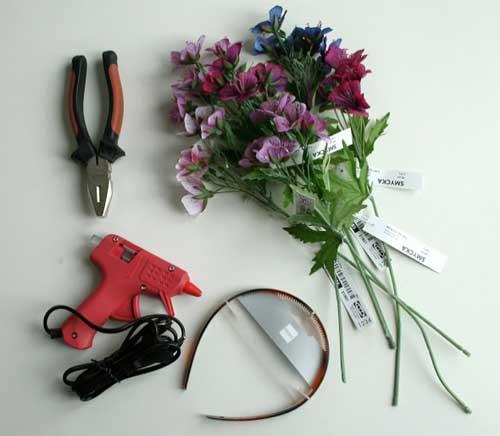 čelenka z kvetov - návod #1