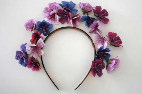 čelenka z kvetov - návod #2