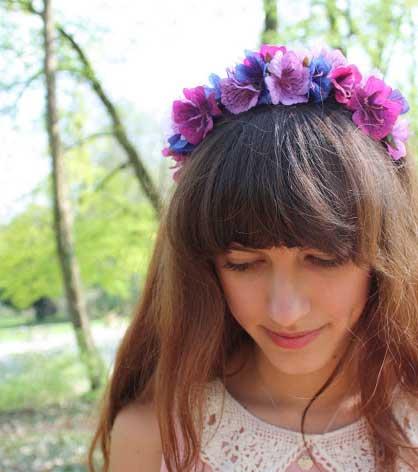 čelenka z kvetov - návod #3