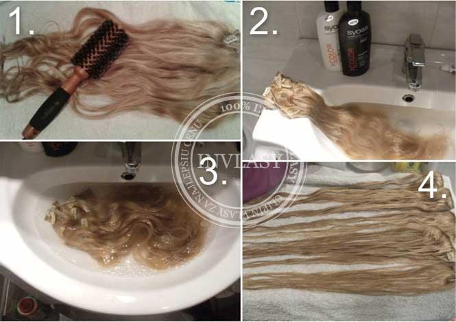 umývanie clip in vlasov