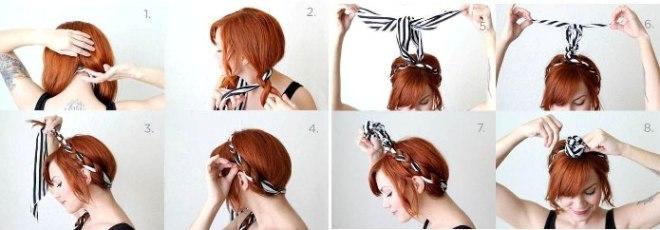 šatka prepletená vlasmi