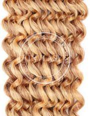 clip in kučeravé najsvetlejšia hnedá-svetlá blond 66 cm | Invlasy.sk - clip in vlasy