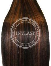 clipin vlasy vlnité čierna prirodzená-svetlo gaštanová 35 cm | Invlasy.sk - clip in vlasy