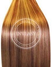 clip in vlasy zázvorová blond-svetlo gaštanová 38 cm