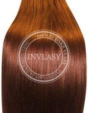 clip in vlasy svetlo gaštanová 38 cm | Invlasy.sk - clip in vlasy