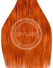clip in vlasy zázvorová červená 45 cm