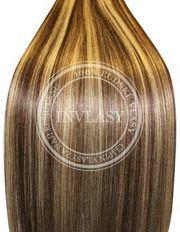 clip-in rychlopás stredne hnedá-svetlá blond 38 cm | Invlasy.sk - clip in vlasy