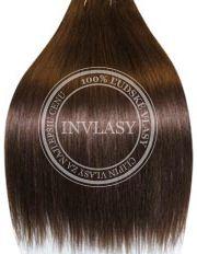 clip in vlasy stredne hnedá - 10 pásov 51 cm