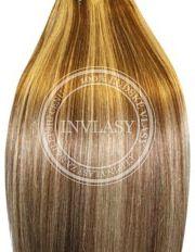 clip-in deluxe svetlo hnedá-svetlá blond 51 cm | Invlasy.sk - clip in vlasy