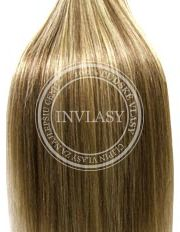 clip-in deluxe svetlo popolavá hnedá-svetlá blond 38 cm