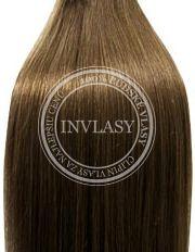 clip in vlasy svetlo popolavá hnedá 51 cm
