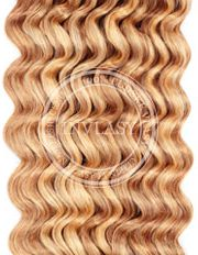 clip in kučeravé zázvorová blond-svetlá blond 35 cm