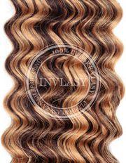 clip in kučeravé stredne hnedá-zázvorová blond 55 cm