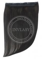 clip in rýchlopás deluxe čierna prirodzená 55 cm | Invlasy.sk - clip in vlasy