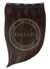 clip in rýchlopás deluxe tmavo hnedá 51 cm | Invlasy.sk - clip in vlasy