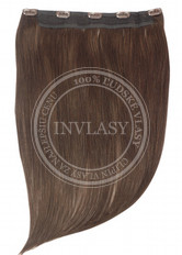 clip in rýchlopás deluxe stredne hnedá 38 cm | Invlasy.sk - clip in vlasy