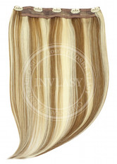 clip in rýchlopás deluxe svetlo hnedá-svetlá blond 51 cm | Invlasy.sk - clip in vlasy