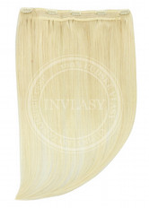 clip in rýchlopás deluxe najsvetlejšia blond 45 cm | Invlasy.sk - clip in vlasy
