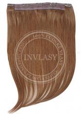 clip in rýchlopás deluxe popolavá hnedá 55 cm | Invlasy.sk - clip in vlasy