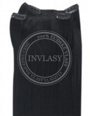 clip-in rychlopás čierna 61 cm | Invlasy.sk - clip in vlasy