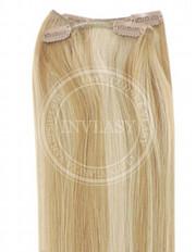 clip-in rychlopás stredne zlatá hnedá-svetlo zlatá blond 61 cm