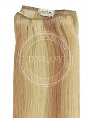 clip-in rychlopás svetlo hnedá popolavá-zlatá blond - svetlá blo 38 cm
