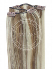 clip-in rychlopás tmavá blond-stredná blond 51 cm | Invlasy.sk - clip in vlasy