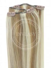 clip-in rychlopás najsvetlejšia hnedá-svetlá blond 38 cm