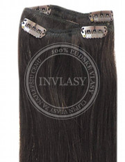 clip-in rychlopás tmavo hnedá 51 cm | Invlasy.sk - clip in vlasy
