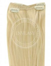 clip-in rychlopás stredná blond 51 cm | Invlasy.sk - clip in vlasy