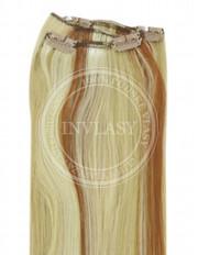 clip-in rychlopás zázvorová blond-svetlo gaštanová 51 cm | Invlasy.sk - clip in vlasy