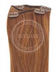 clip-in rychlopás svetlo gaštanová 45 cm | Invlasy.sk - clip in vlasy