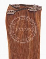 clip-in rychlopás tmavo gaštanová 45 cm | Invlasy.sk - clip in vlasy
