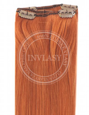 clip-in rychlopás zázvorová červená 38 cm | Invlasy.sk - clip in vlasy
