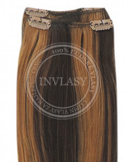 clip-in rychlopás stredne hnedá-svetlo gaštanová 51 cm | Invlasy.sk - clip in vlasy
