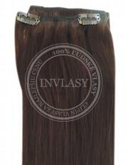 clip-in rychlopás stredne hnedá 45 cm | Invlasy.sk - clip in vlasy
