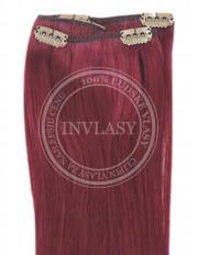 clip-in rychlopás slivkovo červená 61 cm | Invlasy.sk - clip in vlasy