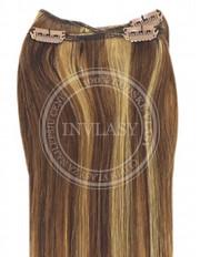 clip-in rychlopás svetlo hnedá-zázvorová blond 51 cm | Invlasy.sk - clip in vlasy