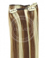 clip-in rychlopás svetlo hnedá-svetlá blond 51 cm | Invlasy.sk - clip in vlasy