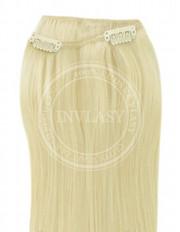 clip-in rychlopás najsvetlejšia blond 38 cm | Invlasy.sk - clip in vlasy