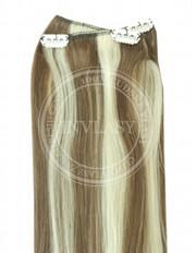 clip-in rychlopás svetlo popolavá hnedá-svetlá blond 51 cm | Invlasy.sk - clip in vlasy