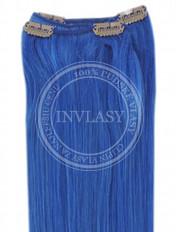 clip-in rychlopás modrá 61 cm | Invlasy.sk - clip in vlasy