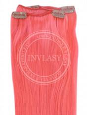 clip-in rychlopás ružová 51 cm | Invlasy.sk - clip in vlasy