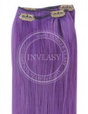 clip-in rychlopás fialová 61 cm | Invlasy.sk - clip in vlasy