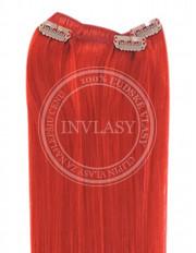 clip-in rychlopás červená 38 cm | Invlasy.sk - clip in vlasy