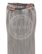 clip-in rychlopás strieborno šedá 45 cm | Invlasy.sk - clip in vlasy