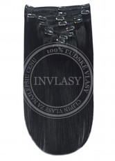 clip in vlasy čierna - 10 pásov 38 cm | Invlasy.sk - clip in vlasy