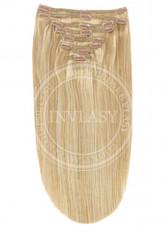 clip-in deluxe stredne zlatá hnedá-svetlo zlatá blond 38 cm | Invlasy.sk - clip in vlasy