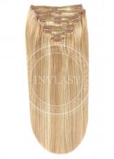 clip in vlasy svetlo hnedá popolavá-zlatá blond - svetlá blond 51 cm