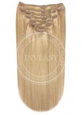 clip-in deluxe tmavá blond 45 cm | Invlasy.sk - clip in vlasy